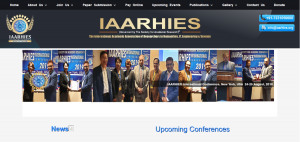 IAARHIES THE INTERNATIONAL ACADEMIC ASSOCIATION OF RESERCHERS IN HUMANITIES IT ENGINEERING SCIENCE